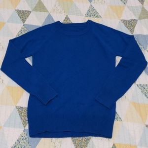 French Connection Blue Crew Neck Sweater, Sz Med